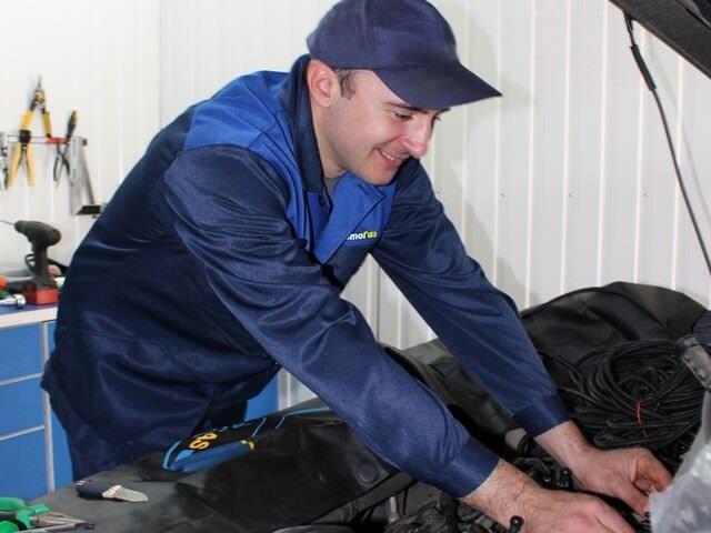 Процесс обслуживания газобаллонного оборудования