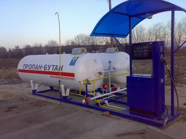 Газовая заправочная станция для автомобилей с ГБО