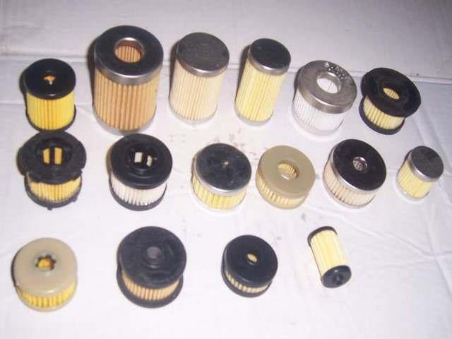 Множество газовых фильтров разных размеров