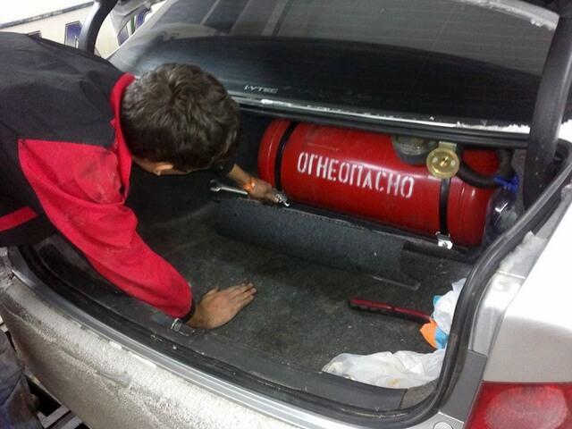 Процесс установки ГБО в машину